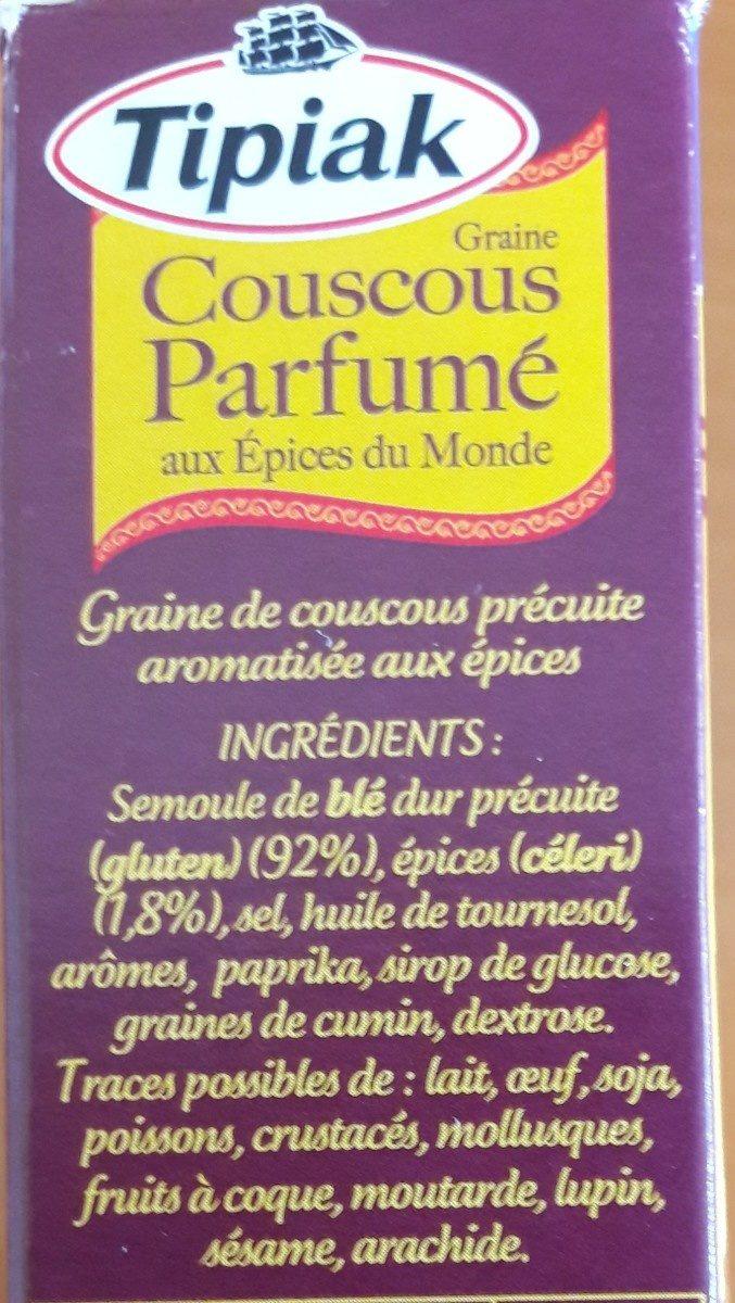Couscous parfumé - Ingrédients - fr