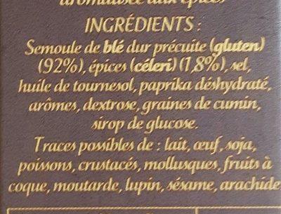 Couscous parfume aux epices du monde - Ingredients