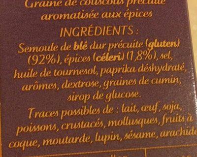 Couscous parfume aux epices du monde - Ingrédients - fr