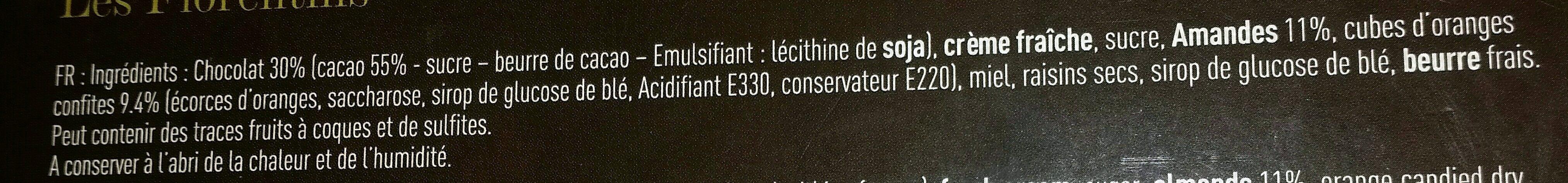 Les Florentins - Ingredients - fr