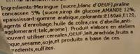 Dame Blanche Praline - Ingrédients - fr