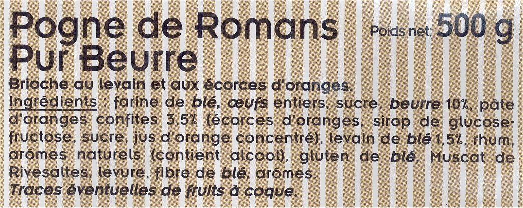 Pogne de Romans - Ingrediënten