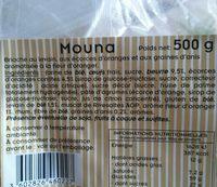 Mouna - Ingrediënten - fr