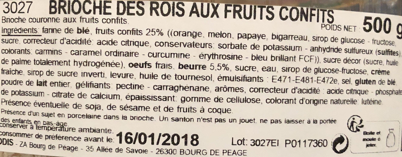 Brioche des rois - Ingrediënten