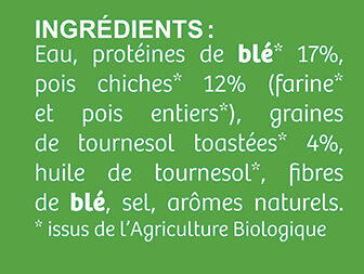 Médaillon Végétal Bio - Ingredients - fr