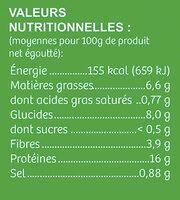 Médaillon Végétal Bio - Nutrition facts - fr