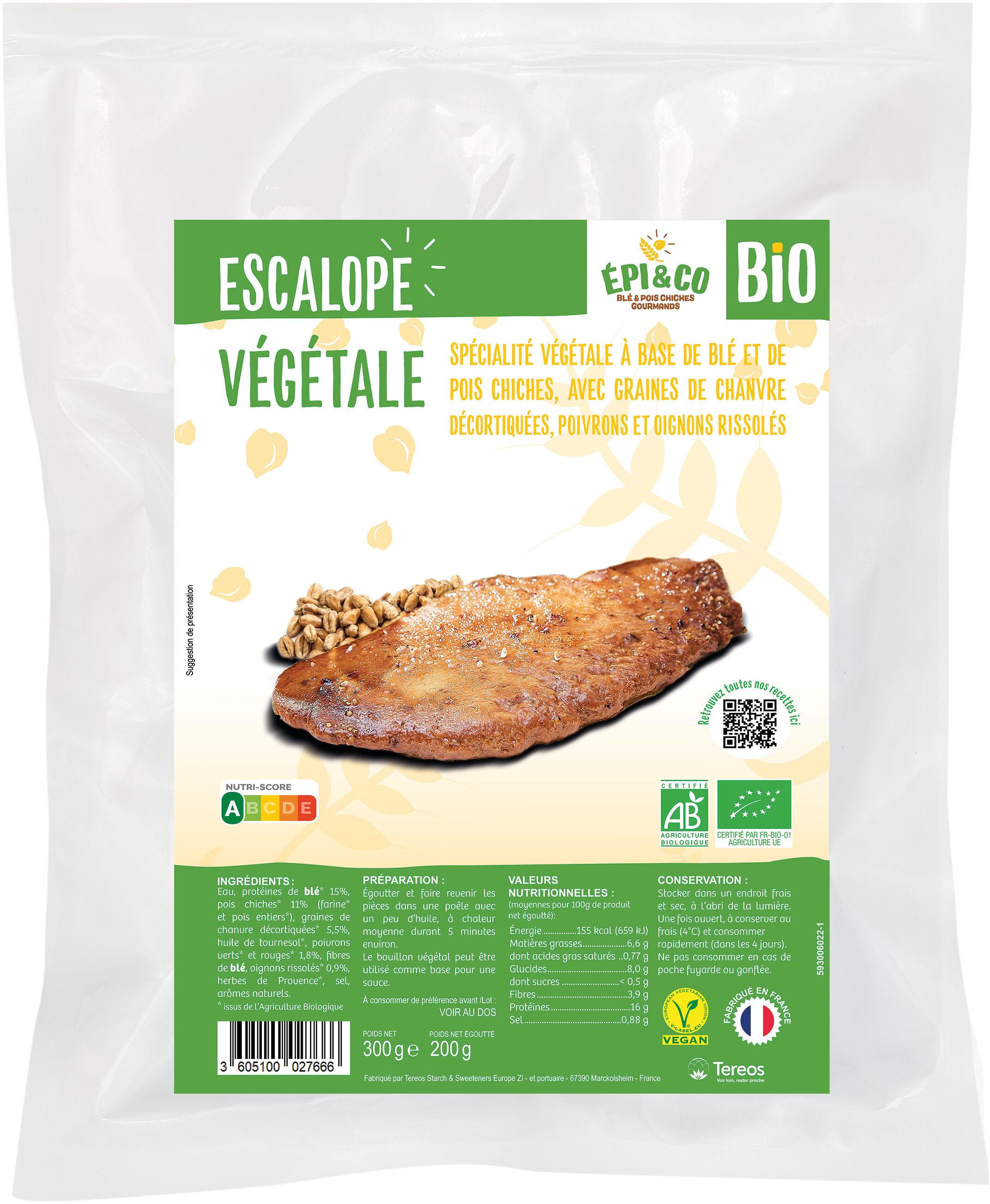 Escalope Végétale Bio - Product - fr