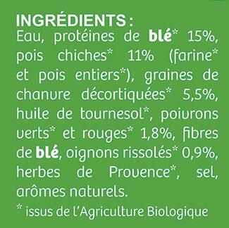 Escalope Végétale Bio - Ingredients - fr