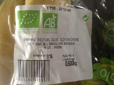 Banane - Ingrédients - fr