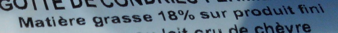 Rigotte de Condrieu (18 % MG) - Voedingswaarden