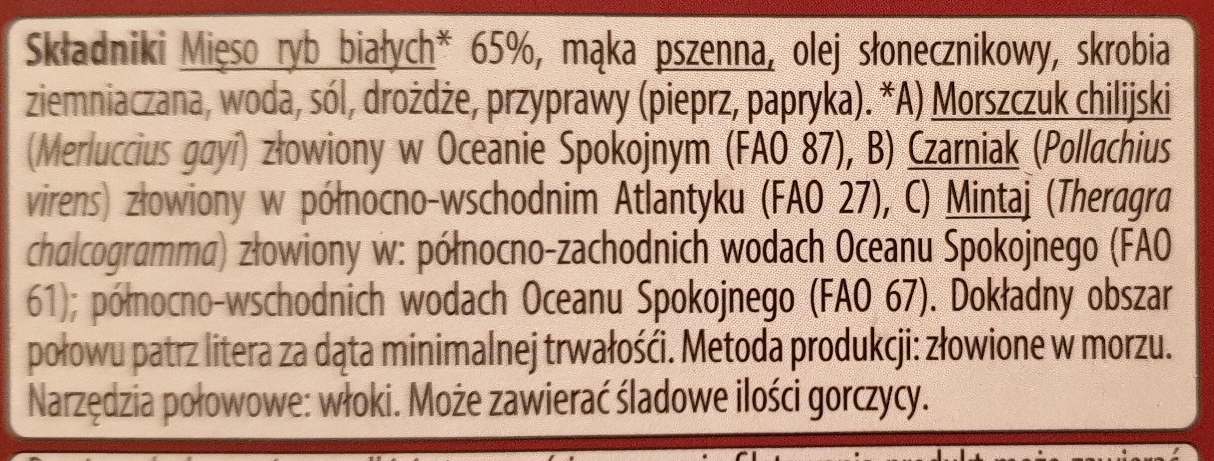 Paluszki rybne panierowane - Ingredients - pl