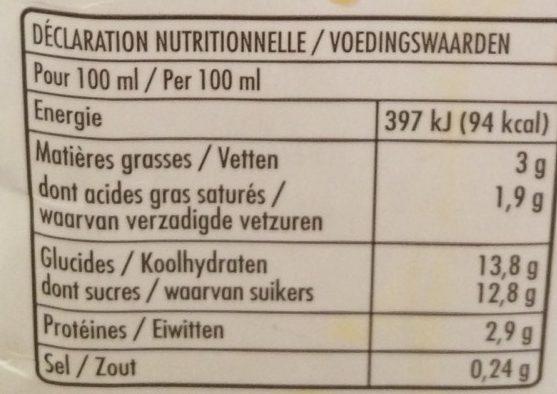 Crème Anglaise - Informations nutritionnelles - fr