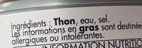 Miettes de thon - Ingrédients