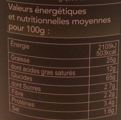 Crème & Oignons - Informations nutritionnelles - fr