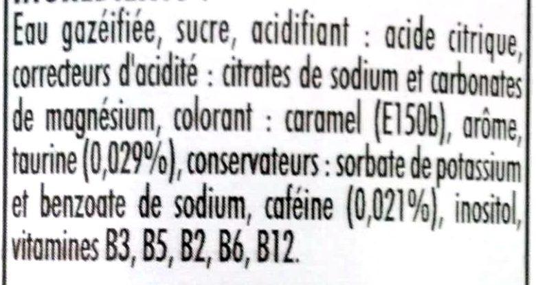 Impact de balle energy drink - Ingrédients - fr