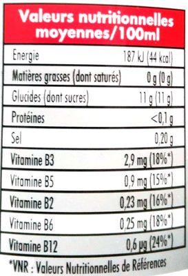 Impact de balle energy drink - Informations nutritionnelles - fr