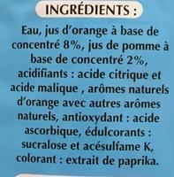 Orange - Ingrediënten