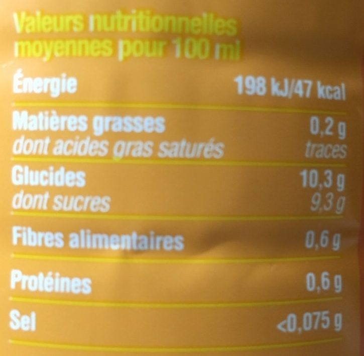 Pur Jus d'Orange - Nutrition facts