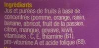 Multifruit - Ingrediënten - fr