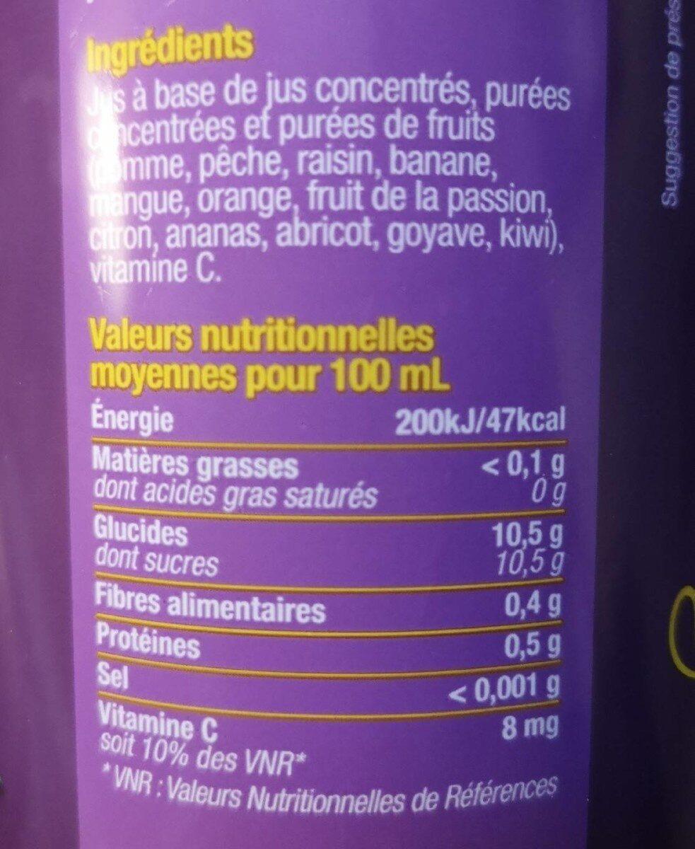 Multifruit - Voedingswaarden - fr