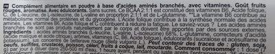 BCAA - Ingredients - fr