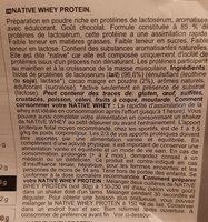 Native 100% whey protein isolate Decathlon - Ingrédients - fr