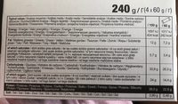 Whey Crunch - Informació nutricional