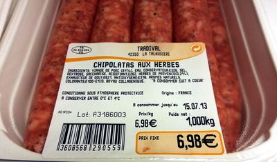 Chipolatas aux Herbes - Product - fr