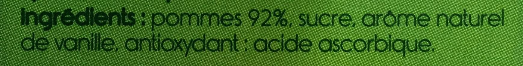 P'tit Dros Pomme Vanille - Ingrédients