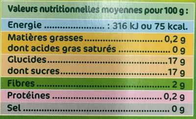 P'tit Dros Pomme Vanille - Informations nutritionnelles