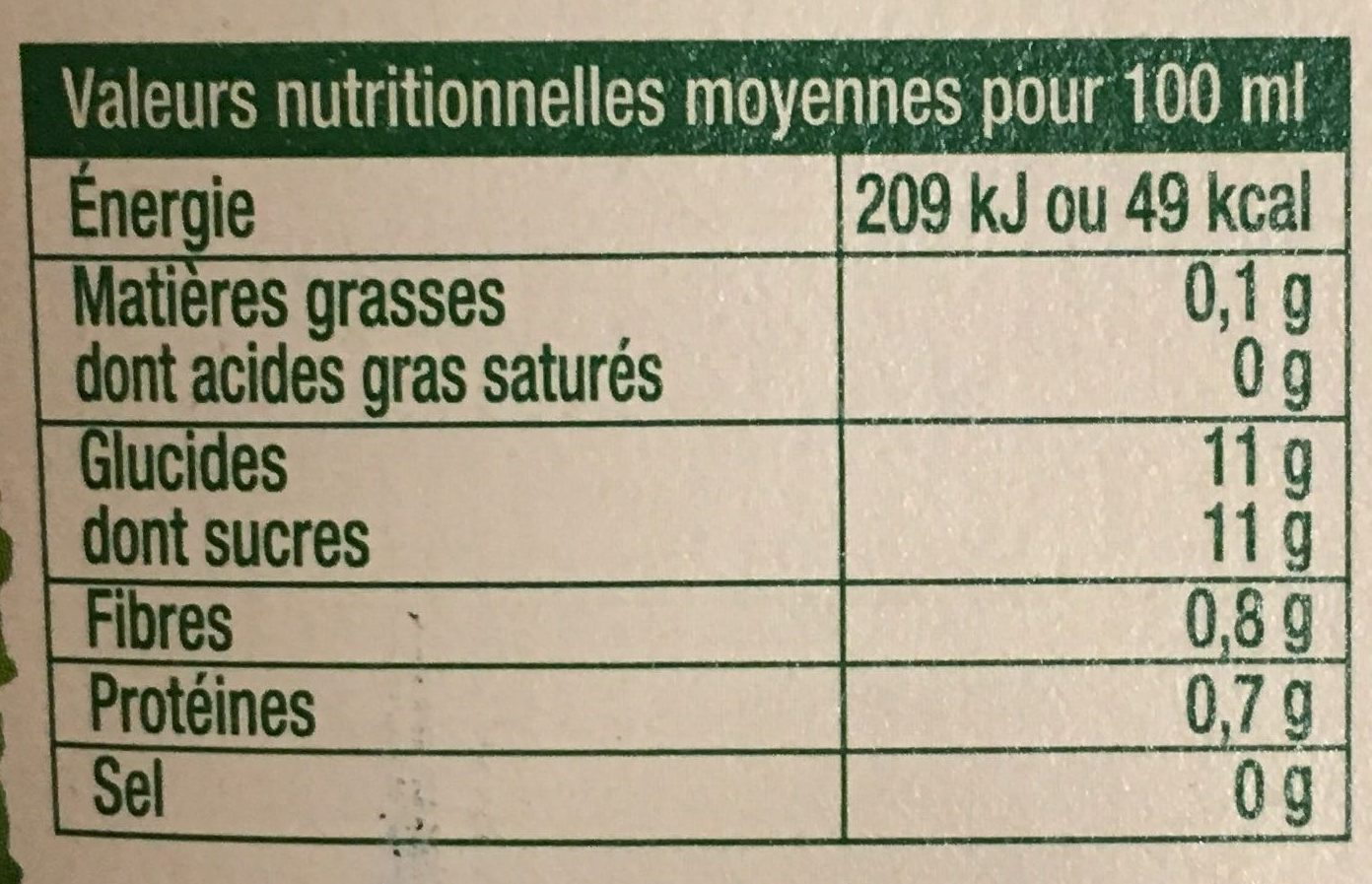 Oranges pressées (offre éco) - Voedingswaarden
