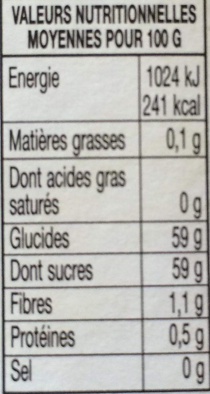 Confiture d'abricots - Informations nutritionnelles - fr