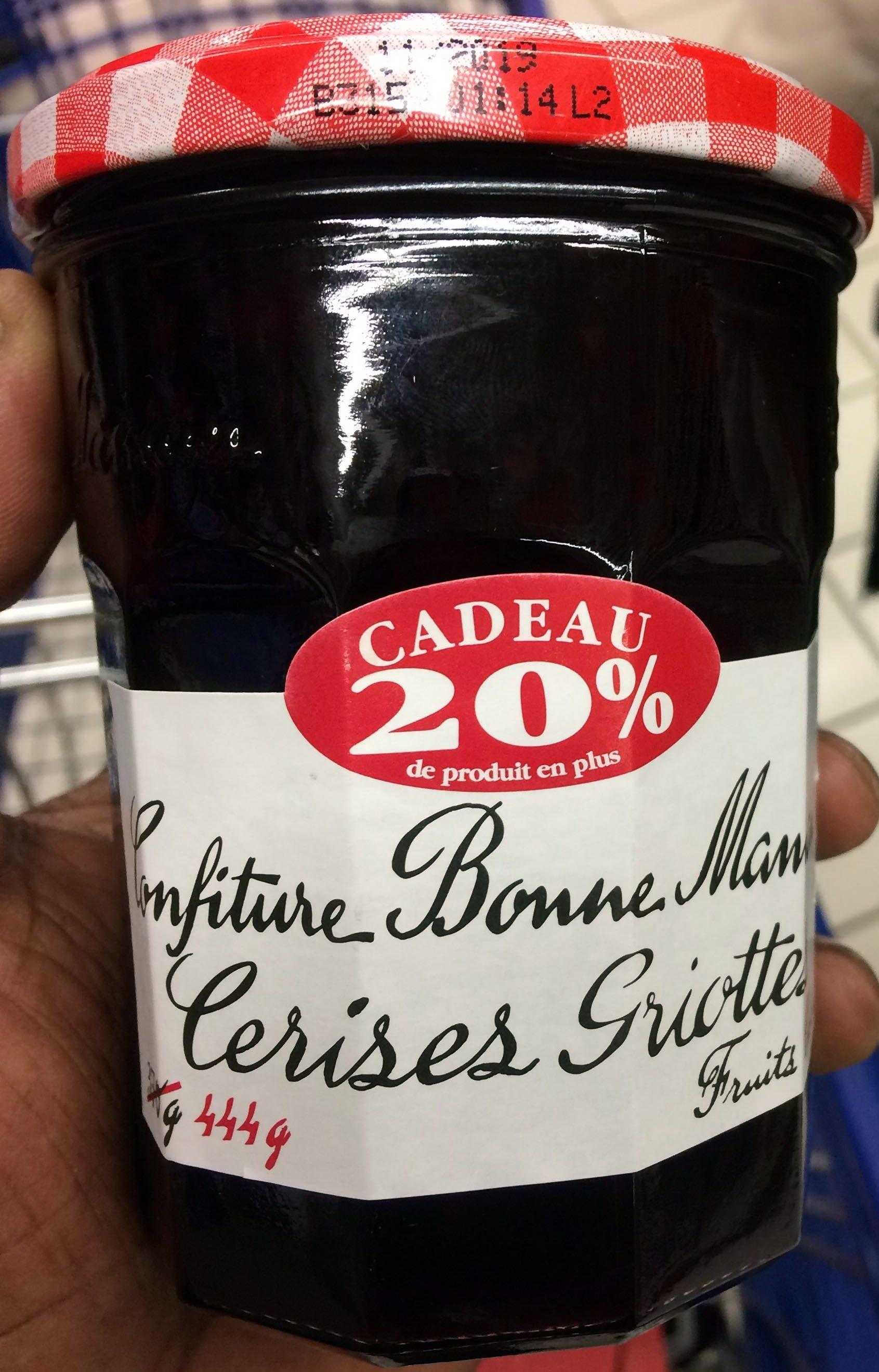 Confiture cerises griottes 370g+20%gr - Product