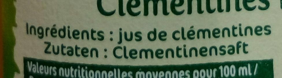 Clémentines pressées - Ingredients