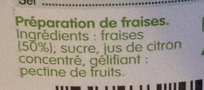 Fruit à tartiner framboise - Ingrediënten - fr