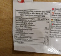 Crème Brulée - Valori nutrizionali - fr