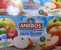 Compote de Pomme Sans Sucres Ajoutés - Produit