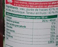 Nectar Fraises - Informations nutritionnelles - fr