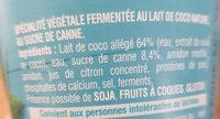 Gourmand Végétal Brassé nature au sucre de canne - Ingredients