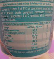 Gourmand Végétal Brassé nature au sucre de canne - Nutrition facts