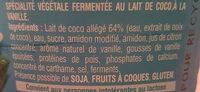 Gourmand & Végétal Brassé Vanille - Ingredients