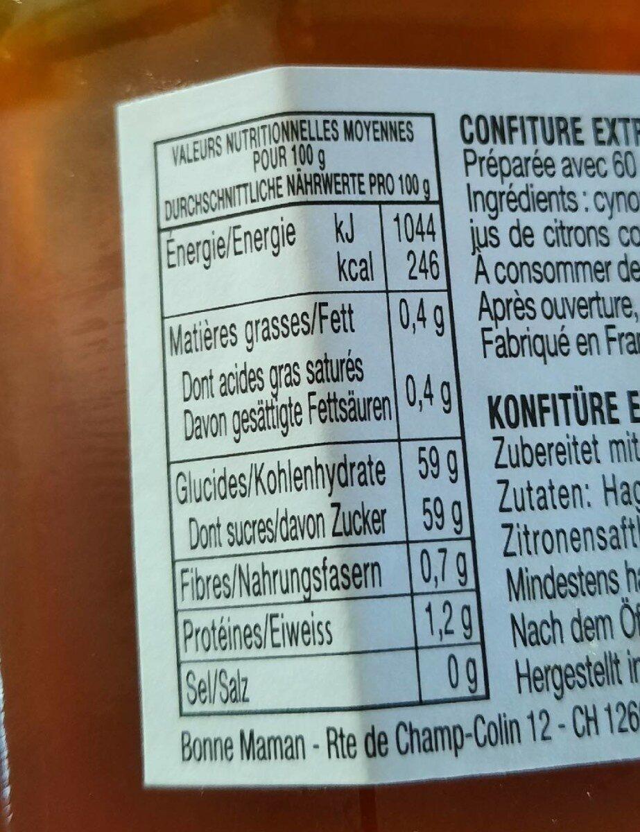 Cynorrhodons - Valori nutrizionali - fr