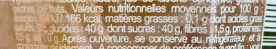Rhubarbe Intense - Voedingswaarden - fr