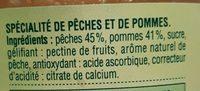 Compote Pomme Pêche - Ingrédients - fr