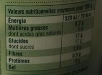 Compote Pomme Pêche - Informations nutritionnelles - fr