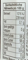 4 Frucht Konfitüre - Informazioni nutrizionali - de