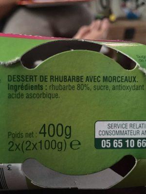 Délice de rhubarbe - Ingrediënten