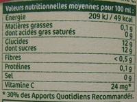 Jus pasteurisé de Pommes pressées Andros - Informations nutritionnelles - fr