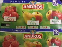 Dessert fruite pomme fraise poire - Informations nutritionnelles - fr