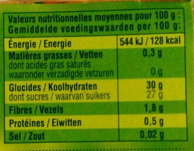 Compote Pomme Châtaigne - Informations nutritionnelles